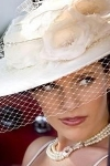 шляпка вуаль