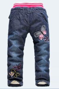 Утепленные джинсы для девочек модная