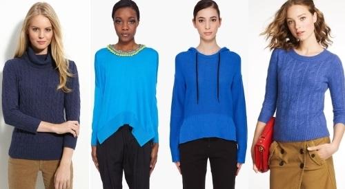 как носить синий