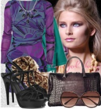 Cómo combinar el color violeta, cómo usar el morado, moda en calle, moda y estilo, ropa de mujer,