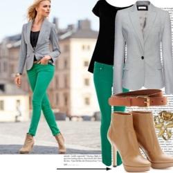 как носить зеленый