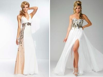 Вечернее платье в пол белого цвета