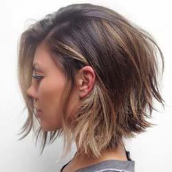 Обаятельная стрижка лесенка на длинные волосы 97