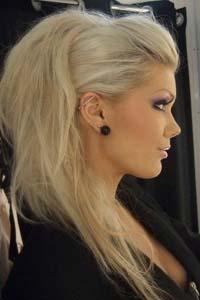Фото причесок начес на средние волосы 87