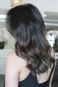 Как выглядит темный русый пепельный цвет волос 2