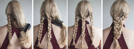 Красивая легкая прическа на длинные волосы своими