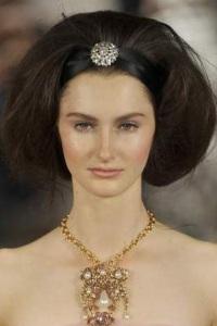 вечерние прически для длинных волос Oscar De la Renta