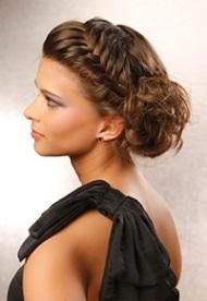 Коктейльные прически фото на средние волосы