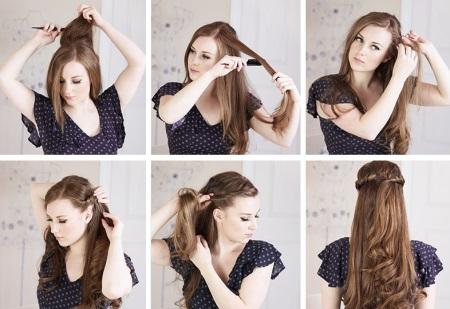 Прически из длинных волос на каждый день своими руками фото пошагово фото 422