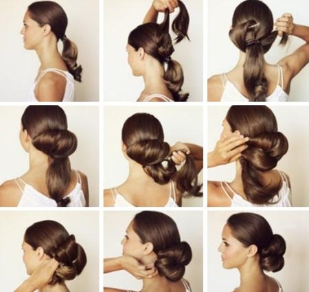 Легкие прически на очень длинные волосы