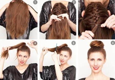 высокие прически для длинных волос