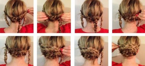 Косичка плетение самой себе на средние волосы