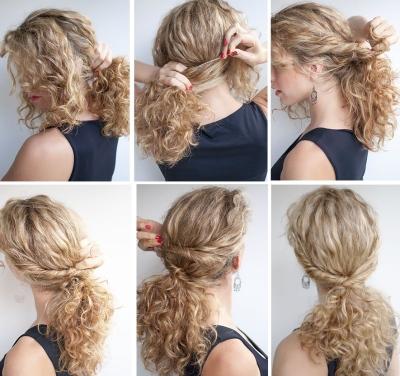 кудри на средние волосы