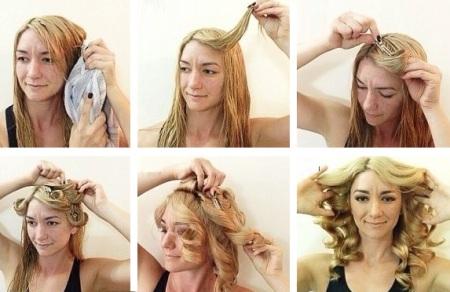 Красивые локоны на длинные волосы на бигуди