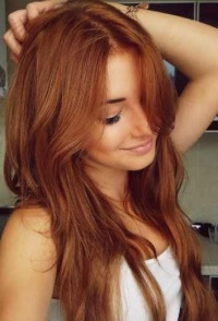 Медный красный цвет волос