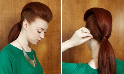 Как сделать хвостик с начесом на макушке фото 577