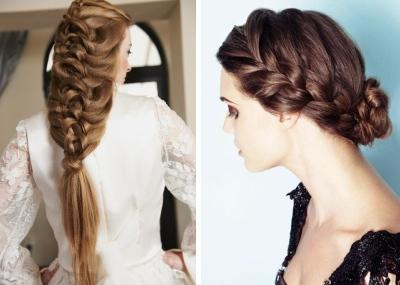 Trenzas de pelo, pelo largo, peinados,