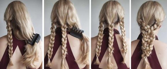 3 косы на длинные волосы