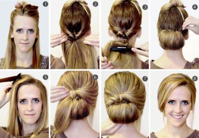 Причёски на длинные волосы для работы