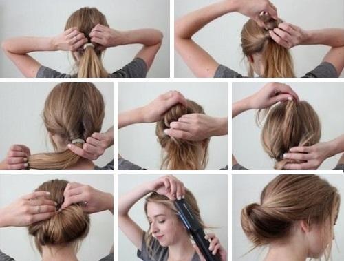 Убрать волосы на верх