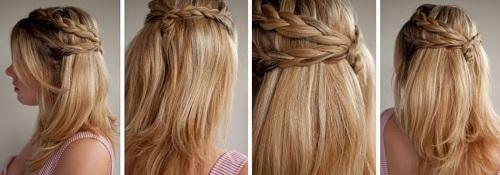 Повседневная прическа для длинных волос своими руками