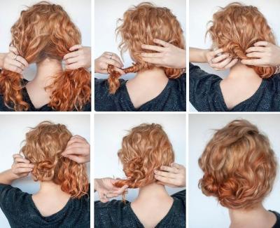 Прически на средние волосы с долговременной укладкой