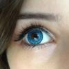 Голубые линзы на карие глаза – смена цвета