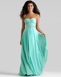 Бирюзовое платье в пол: выбор модели и аксессуаров