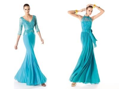 Vestido largo, Vestido de color turquesa, ropa de mujer, moda en calle, moda y estilo,