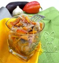 соленые баклажаны с морковью