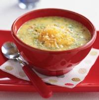 Сырный суп-пюре на мясном бульоне