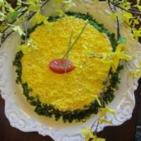 """Салат с сыром """"Кувшинка"""" – кулинарный рецепт"""