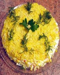 Салаты с майонезом, советская кухня, салаты Оливье, селедка под шубой, мимоза, пошаговые рецепты с фото
